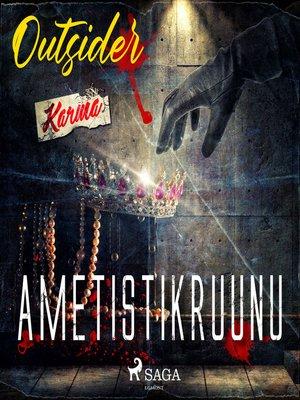 cover image of Ametistikruunu
