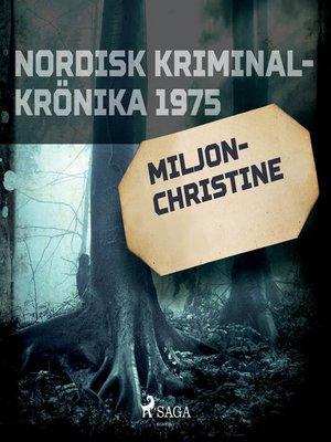 cover image of Miljon-Christine