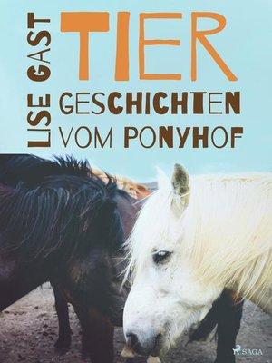 cover image of Tiergeschichten vom Ponyhof