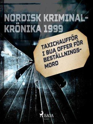 cover image of Taxichaufför i Bua offer för beställningsmord