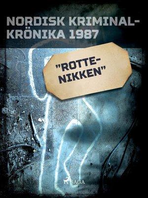 """cover image of """"Rottenikken"""""""