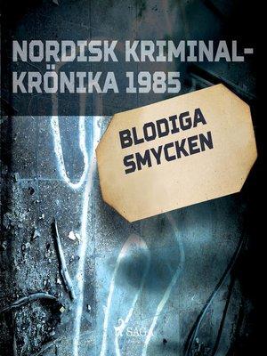cover image of Blodiga smycken