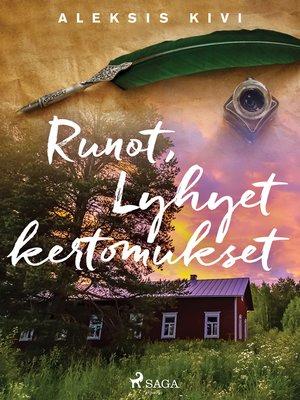 cover image of Runot, Lyhyet kertomukset