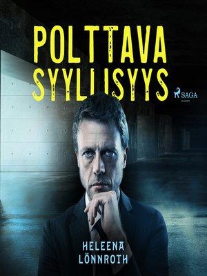 cover image of Polttava syyllisyys
