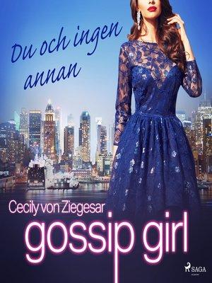 cover image of Du och ingen annan