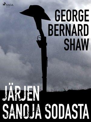 cover image of Järjen sanoja sodasta