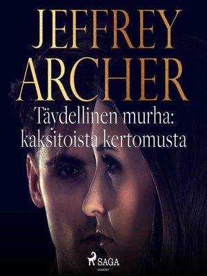 cover image of Täydellinen murha