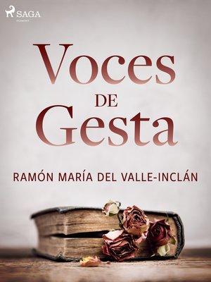 cover image of Voces de gesta