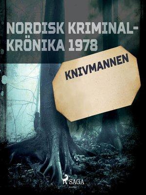 cover image of Knivmannen