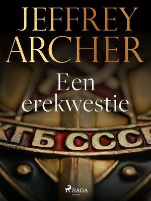 cover image of Een erekwestie