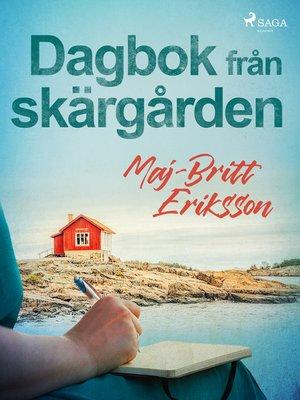 cover image of Dagbok från skärgården