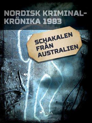 cover image of Schakalen från Australien