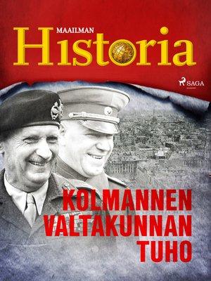 cover image of Kolmannen valtakunnan tuho