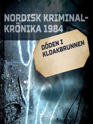 cover image of Döden i kloakbrunnen
