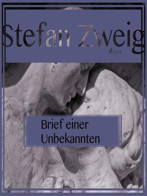 cover image of Brief einer Unbekannten (Ungekürzt)