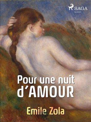 cover image of Pour une nuit d'amour