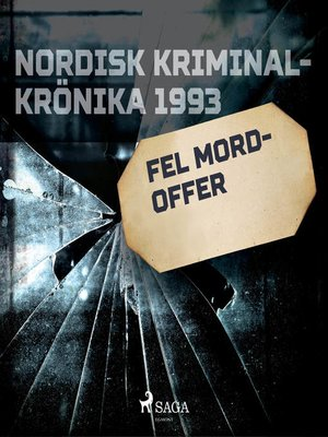 cover image of Fel mordoffer