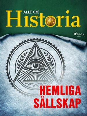 cover image of Hemliga sällskap