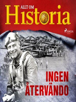 cover image of Ingen återvändo