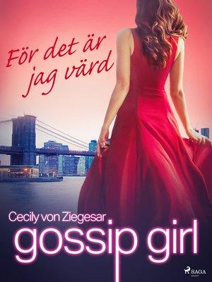 cover image of För det är jag värd