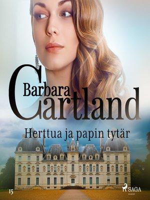 cover image of Herttua ja papin tytär