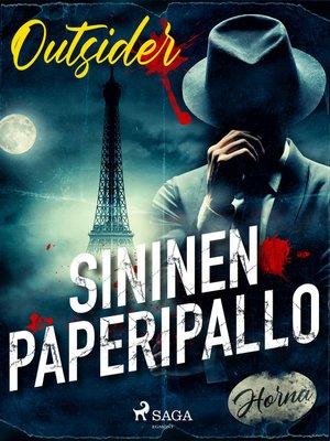 cover image of Sininen paperipallo