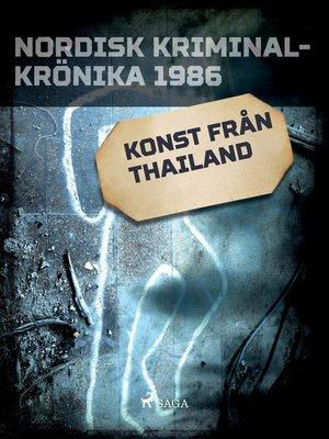 cover image of Konst från Thailand