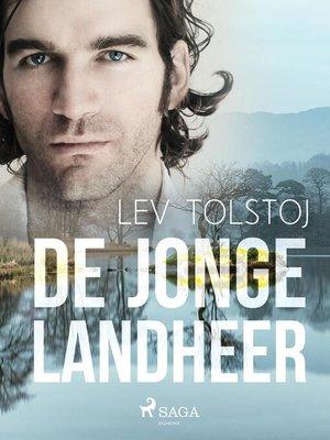 cover image of De Jonge Landheer