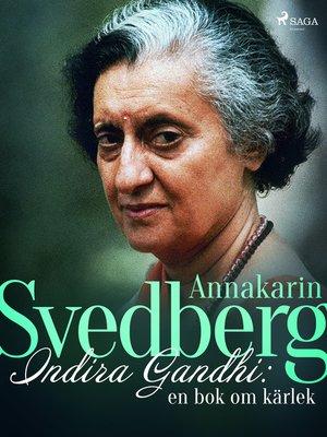 cover image of Indira Gandhi