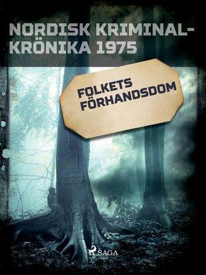 cover image of Folkets förhandsdom