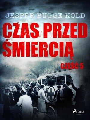 cover image of Czas przed śmiercią