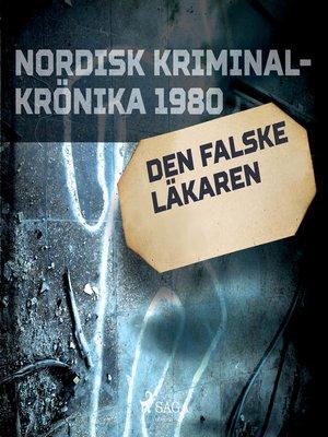 cover image of Den falske läkaren