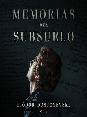 cover image of Memorias del subsuelo