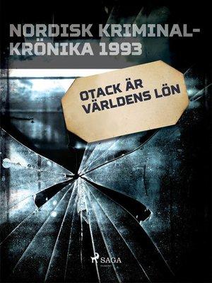 cover image of Otack är världens lön