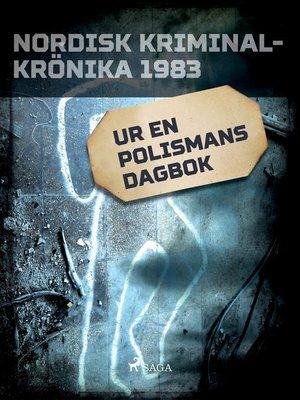cover image of Ur en polismans dagbok