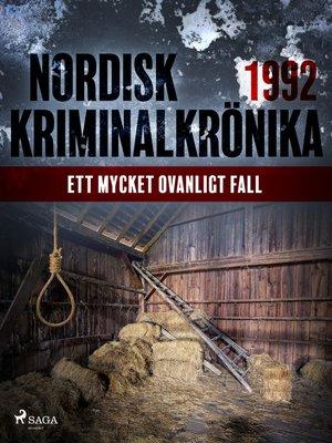 cover image of Ett mycket ovanligt fall