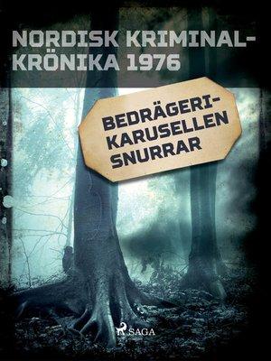 cover image of Bedrägerikarusellen snurrar