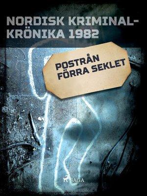 cover image of Postrån förra seklet