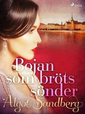 cover image of Bojan som bröts sönder
