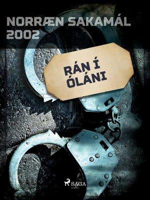 cover image of Rán í óláni