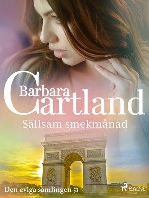 cover image of Sällsam smekmånad