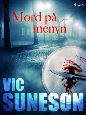 cover image of Mord på menyn