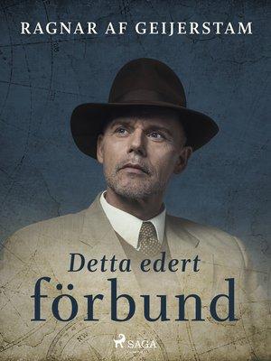 cover image of Detta edert förbund