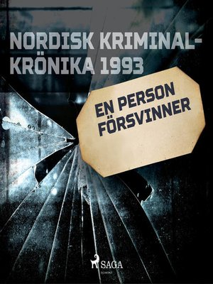 cover image of En person försvinner