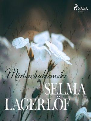 cover image of Mårbackablomster