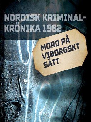cover image of Mord på viborgskt sätt