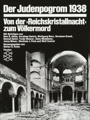 cover image of Der Judenpogrom 1938