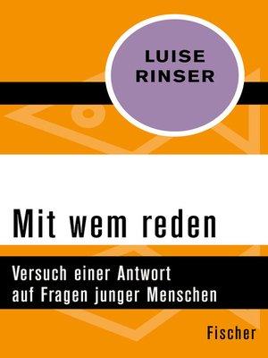 cover image of Mit wem reden