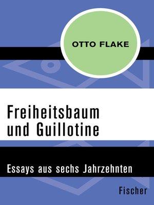 cover image of Freiheitsbaum und Guillotine