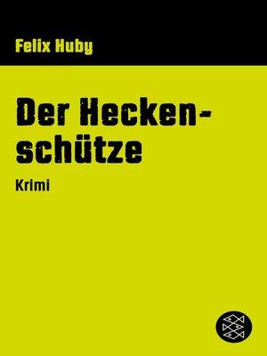 cover image of Der Heckenschütze